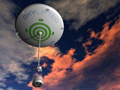 Диск-дирижабль skylifter берётся за особо тяжкий груз