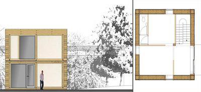 Двухэтажный дом изсоломы должен простоять 100 лет