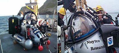 Глубоководный рабочий со своим пилотом танцует под водой
