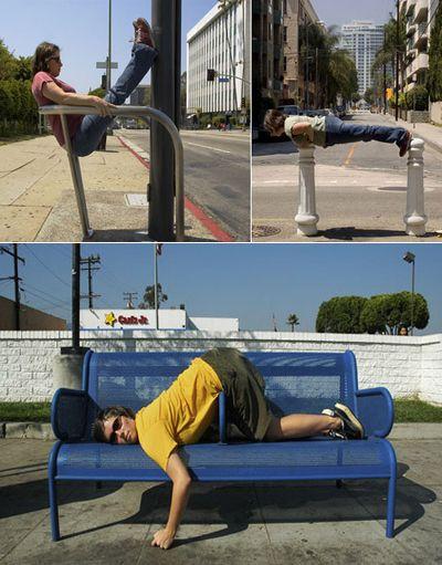 Костюмы-диваны делают своих хозяев городскими симбионтами