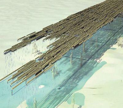 Летающий водопад превращает шаги впитьевую воду