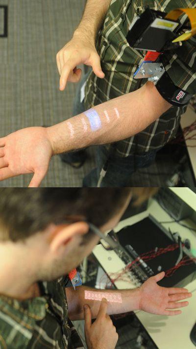 Ударим по рукам: интерфейс skinput извлекает данные из кожи вон