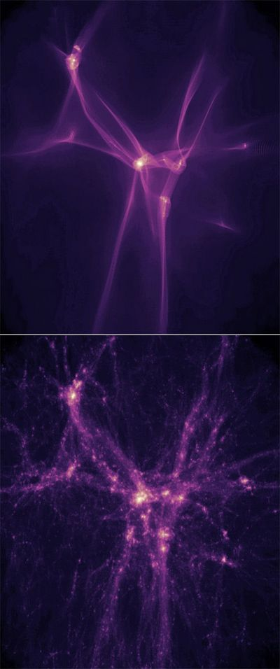 Вселенские волокна удержали первые звёзды тёплой материей