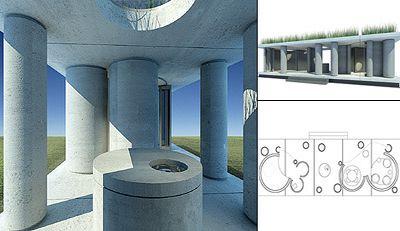 Зелёный дом извлекает пользу из серого бетона
